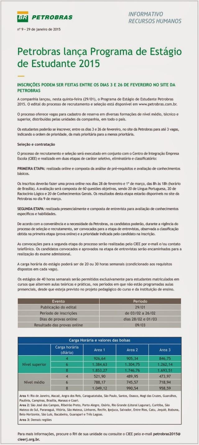 OPORTUNIDADE DE ESTÁGIO - PETROBRAS 1
