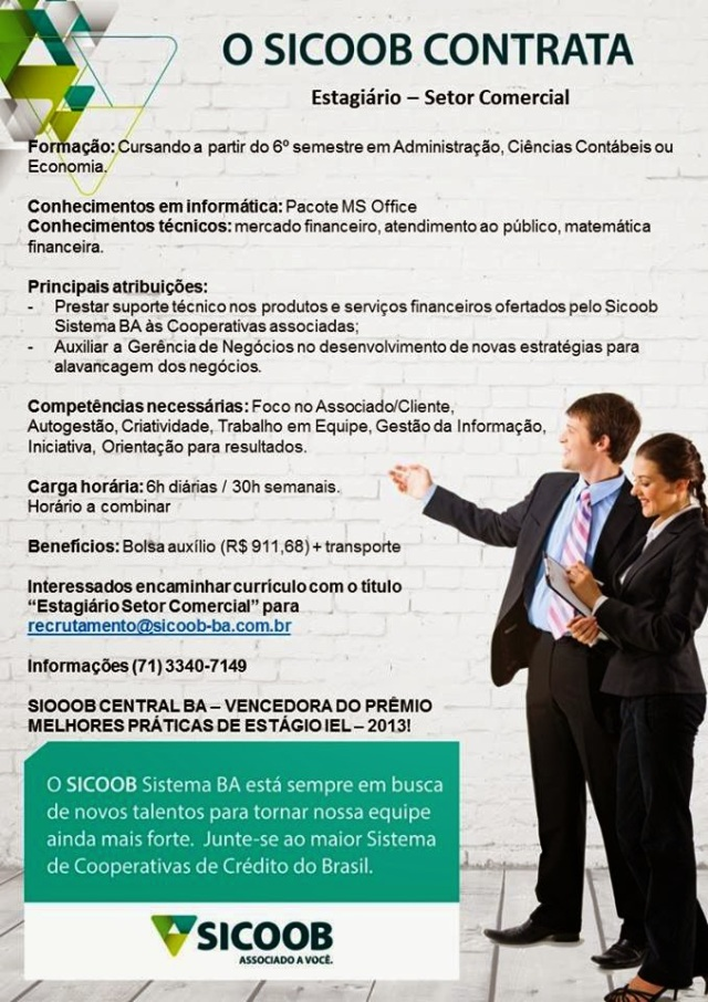 OPORTUNIDADE DE ESTÁGIO - ADM E CONTÁBEIS 1