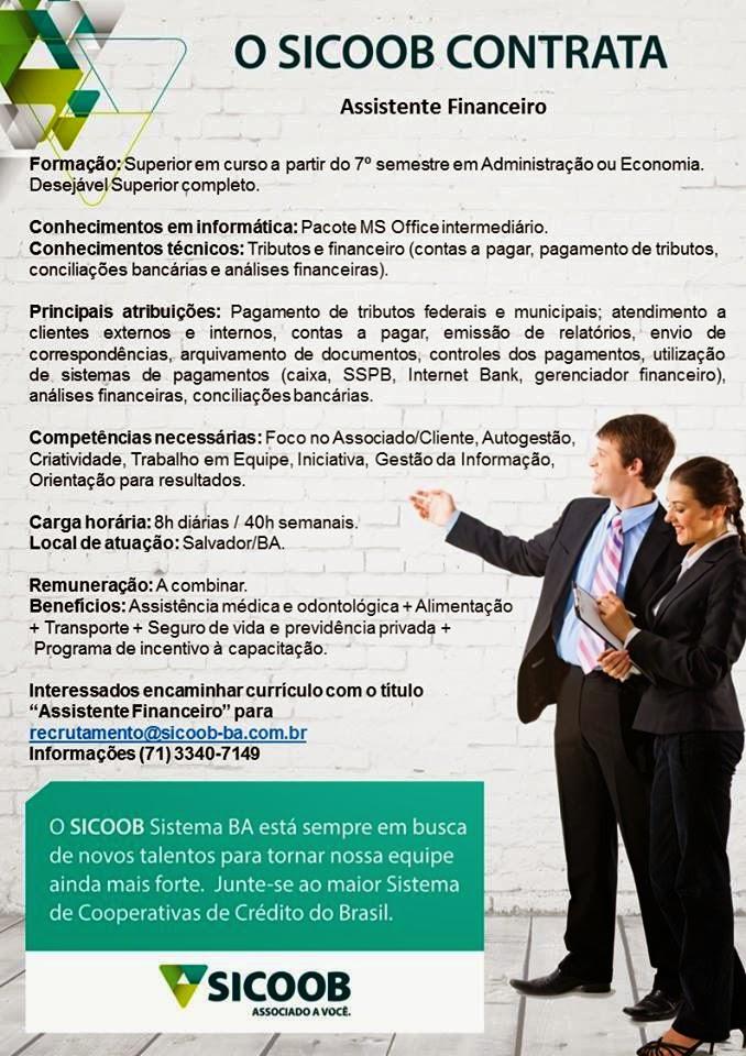 OPORTUNIDADE EFETIVA - ASSISTENTE FINANCEIRO 1